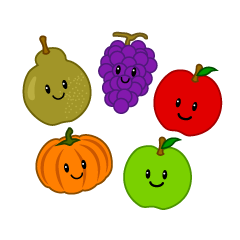 Cute Autumn Fruit Clipart
