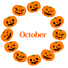 Halloween Pumpkin Wreath October Clipart