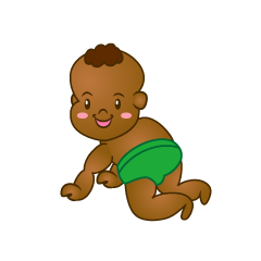 Smile Baby Crawling Clipart