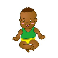 Smile Baby Sitting Clipart