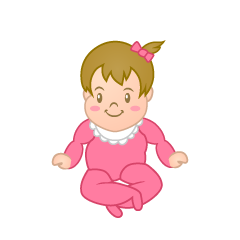 Cute Girl's Baby Clipart