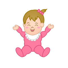 Smiling Girl's Baby Clipart
