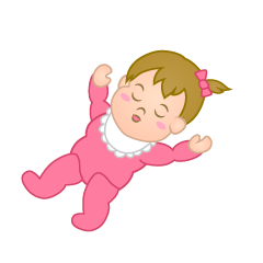 Sleeping Girl's Baby Clipart