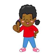 Thumbs up Girl Clipart