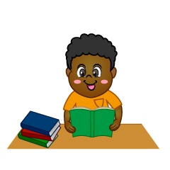 Smile Boy Study Clipart
