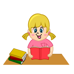 Girl Study Clipart