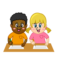 Kids Writing Clipart