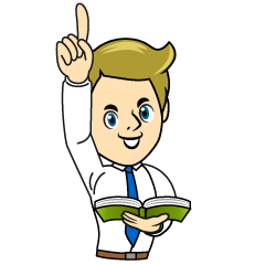 Teacher Raises Finger Clipart