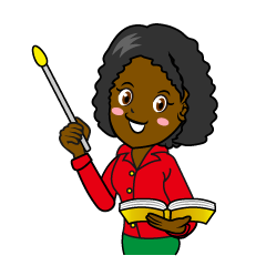 Smiling Female Teacher Clipart