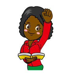 Energetic Female Teacher Clipart