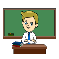 Teacher and Blackboard Clipart
