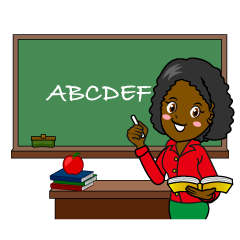 Teacher Teaching English Clipart