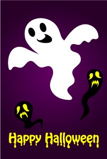 Ghosts Happy Halloween Card