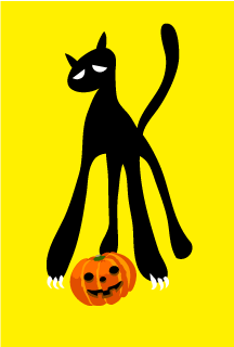 Cool Black Cat Halloween Card