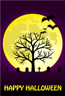 Bats and Graveyards Halloween 2019