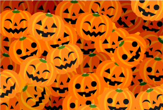 Many Pumpkin Halloween Card