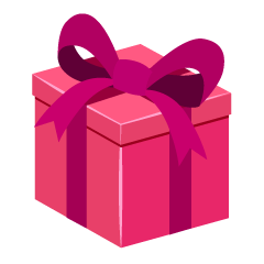 Pink Gift Box Clipart