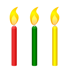 Three Candles Clipart