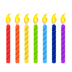 Rainbow Candles Clipart