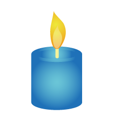 Blue Candle Clipart