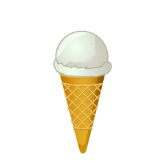 White Ice Cream Clipart