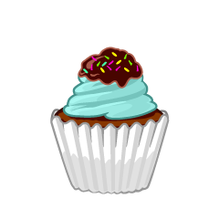 Cute Chocolate Cupcake Clipart