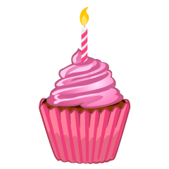 Cute Birthday Cupcake Clipart
