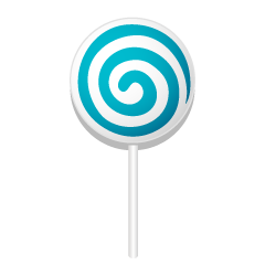 Blue Lollipop Clipart