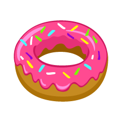 Pink Donut Clipart