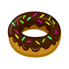 Chocolate Frosted Donut Clipart