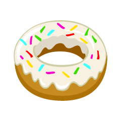 White Chocolate Donut Clipart