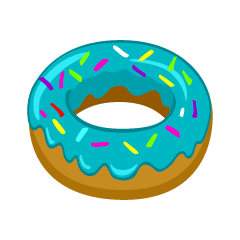 Blue Donut Clipart