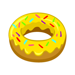 Yellow Donut Clipart