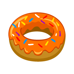 Orange Donut Clipart