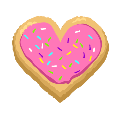 Pink Heart Cookie Clipart