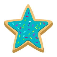 Blue Star Cookie Clipart