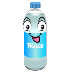 Water Plastic Bottle Cartoon