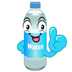 Thumbs up Water Bottle Cartoon