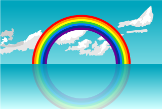 Ocean Rainbow Background