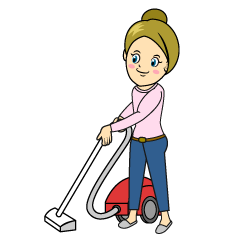 Woman to Vacuum Clipart