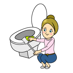 Washing Toilet Clipart