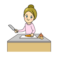 Cutting Vegetables Clipart