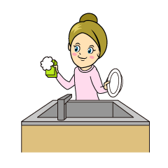 Washing Dishes Clipart