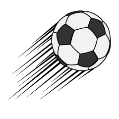 Flying Soccer Ball Clipart
