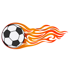 Burning Soccer Ball Clipart