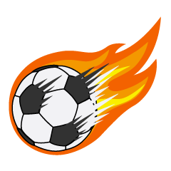 Amazing Flame Soccer Ball