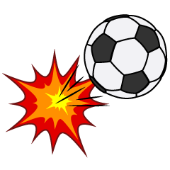 Kicked Soccer Ball Clipart
