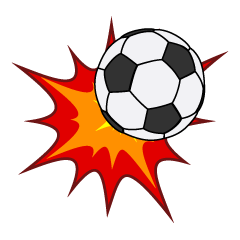 Hit Soccer Ball Clipart