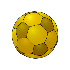 Gold Soccer Ball Clipart