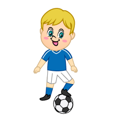 Boy Soccer Player Clipart